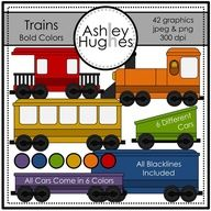 $ Trains (Bold Colors): Graphics for Commercial Use