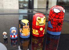 Marvel Super hero 1 nesting doll set by VeleCruce on Etsy, $25.00