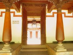 This photo from Tamil Nadu, South is titled 'Chettinad House'. Chettinad House, Chennai, Farmhouse, Curtains, Traditional, Home Decor, Blinds, Decoration Home, Room Decor