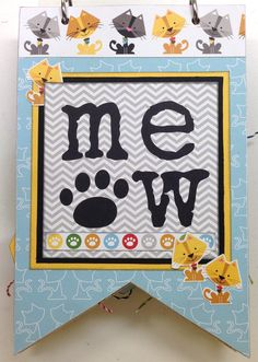 Plays Well With Paper: Meow Mini Book - Bella Blvd Riley