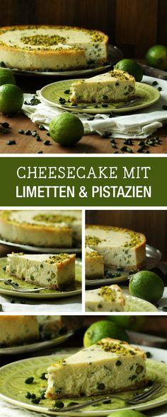 Backe einen besonderen Käsekuchen mit Pistazzien und Limette / cheesecake recipe with pistachios and lime via DaWanda.com