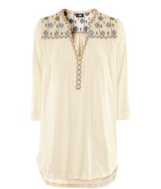 Embroidered jersey top by H+M