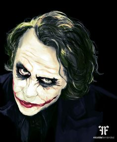 Ilustración The Joker by Nicolás Fernández, via Behance