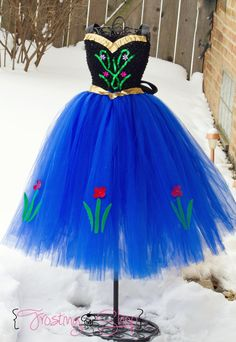 Princess Anna Inspired Tutu Dress Frozen by FrostingShop on Etsy