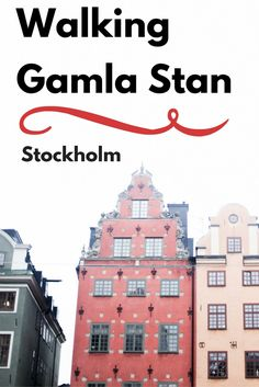 Winding cobblestone streets, ancient churches, medieval squares – even a royal palace. It's all here in Gamla Stan, Stockholm's Old Town. Dating back to 1252, it's one of Europe's biggest and best preserved medieval centers. And walking Gamla Stan (the Old Town) is one of the first things visitors do in Stockholm! Take a peek at some photos of what you see when walking Gamla Stan...