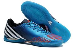 adidas Predator LZ IC Indoor Soccer Shoes Blue White Infrared