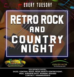 Live it up with a retro style reminiscent of Rock & Country Music this Tuesday Night @ Café Mojo Mumbai. #Party #Mumbai #NightLife.