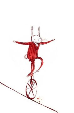 Performing #rabbit #illustration Lee White
