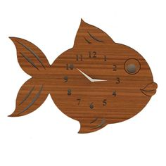 Gurcul 8/24 Fish Duvar Saati - evmanya.com