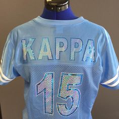 School spirit never looked so good! #KappaKappaGamma sports jersey from All Stitched and Glitzed Out. (Back)