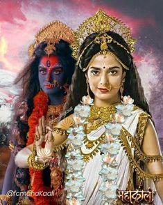 Shiva Parvati Images, Durga Images, Shiva Shakti, Kali Hindu, Durga Maa, Kali Goddess, Indian Goddess, Kali Mantra, Mother Kali