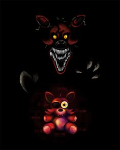 Five Nights at Freddy's FNaF4 Nightmare Foxy by kaizerin on DeviantArt