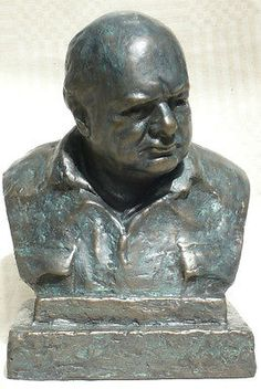 #Winston churchill in his siren suit #signed #oscar nemon  85% bronze resin bust,  View more on the LINK: 	http://www.zeppy.io/product/gb/2/112071997924/
