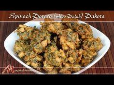 Spinach Potato (Aloo Palak) Pakora - Manjula's Kitchen - Indian Vegetarian Recipes