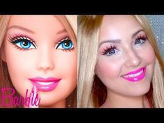 Amazing Barbie Transformation Makeup for Halloween ♡ #barbie #perfect