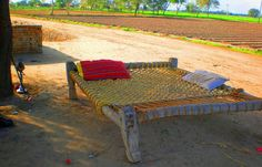 Charpai, or Charpoy, is a traditional woven bed in Punjab.