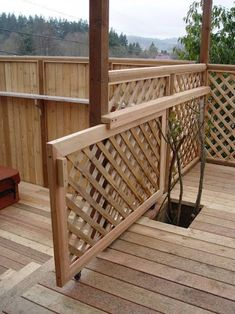 Great Idea! sliding backyard deck gate | Love this one.
