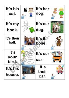 Possessive adjectives memory game - ESL worksheet by tiasi Adjective Games, Esl Lessons, Grammar Worksheets, Memory Games, Best Memories, Learn English, Classroom, Student, Teaching