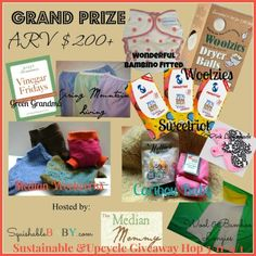 The Sustainable & Upcycle Giveaway, Ends 4/1 http://squishablebaby.com/sustainable-upcycle-giveaway-hop-grand-prize-ends-41/