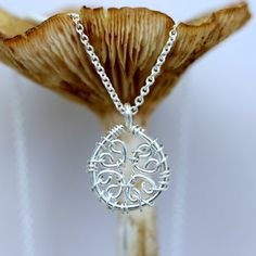 Sterling Silver-Wire-Wrapped-Handmade-4 Leaf by CammieLaneJewelry