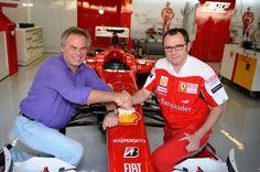 Eugene Kaspersky with Stefano Domenicali from Scuderia Ferrari