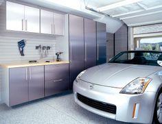 Envidia porción garaje moderno y Derramada Garaje