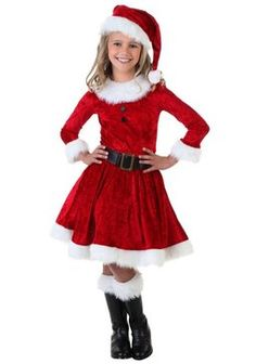 Santa costume for girls