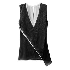 Reed Krakoff Sleeveless Layered Top--black and white trend.