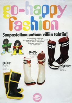 #Nokia #Saappaat #Rubber boots #Villi tahti #Go-happy fashion Hunter Boots, Rubber Rain Boots, Gay, Villa, Shoes, Fashion, Moda, Shoes Outlet, Zapatos