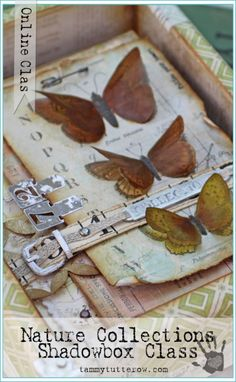 Tammy Tutterow | Nature Collections Shadowbox | Online mixed media home decor class.