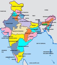 36 Best Indian States images | India map, Map, Maps