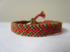 Christmas Color Braided Friendship Bracelet by beausbitsandbobs, £4.20