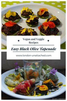 Black Olive Tapenade _ Vegetarian Tapenade _ Vegan Olive and Almond Tapenade _ Olive and Almond Tapenade Veggie Recipes, Great Recipes, Vegetarian Recipes, Healthy Recipes, Delicious Recipes, Favorite Recipes, Good Food, Yummy Food