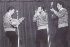 The Corries Folk Trio. Roy Williamson on bandurria. Ronnie Browne on harmonica (moothie, I think.) and Bill Smith on guitar.