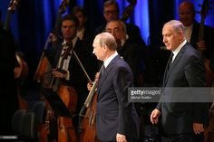 MOSCOW, RUSSIA - JUNE, 7 (RUSSIA OUT) Russian President Vladimir Putin and Israeli Prime Minister Benjamin Netanyahu visit the Bolshoi Theatre on June 7, 2016 in Moscow, Russia. Netanyahu is on a state visit to Russia.
