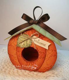 Pumpkin Birdhouse