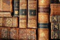 Antique leather books