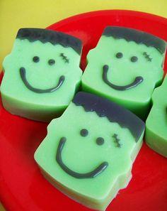 Lime Frankenstein Soap Bar by LoveLeeSoaps on Etsy, $6.00