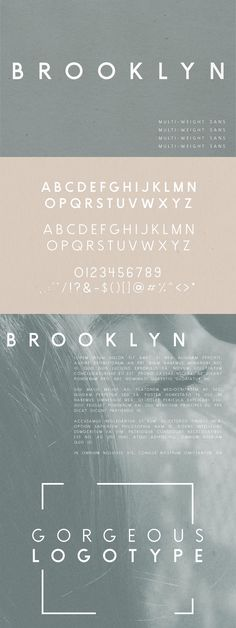 Brooklyn   Two Weight Font Family by Jen Wagner Co on @creativemarket