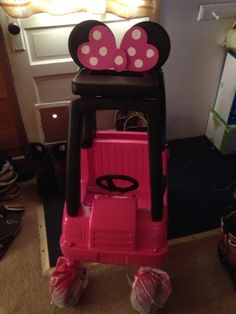 Pinterest Projects: Minnie Mouse Car