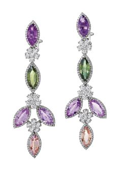 PAIR OF FANCY COLOURED SAPPHIRE AND DIAMOND EARRINGS, Sotheby's Australia Auctions, Calender, Australian Auctioneers