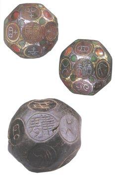 18-sided dice, China, Han dynasty (206 BC - 220 AD).