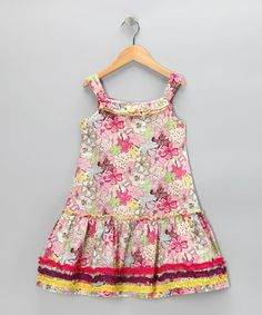 Lemon Seed Kids | Light Pink Periwinkle Sundress | £17.49