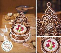 Tulipános palást Best Wordpress Themes, Royal Icing, Cookie Decorating, Gingerbread, Christmas Bulbs, Sweets, Holiday Decor, Wedding, Decorated Cookies