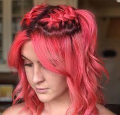 Peach Hair, Pink Hair, Dye My Hair, Amazing Hair, Unique Hairstyles, Rainbow Hair, Hair Colour, Tangled, Hair And Nails
