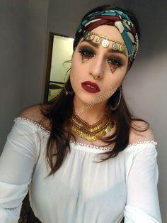 Fortune Teller gypsy makeup costume #cigana #fantasia #Halloween