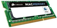 Corsair Apple Certified 4GB (1x4GB) DDR3 1066 MHz (PC3 8500) Laptop Memory (CMSA4GX3M1A1066C7) by Corsair. $32.69. From the Manufacturer                                    Corsair Mac Memory Upgrade Kits: Guaranteed Performance, Compatibility, and Support.                                The DDR3 SODIMM format is compatible with virtually all  modern Mac computers.   Corsair's 4GB and 8GB Mac® memory upgrade kits will help your system work better. With hassle-free compati...