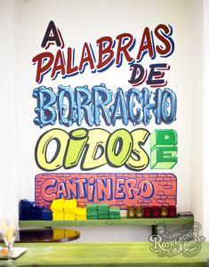 Restaurante Colores de México en Planetocio, Villalba (Madrid, Spain) - ROTULACION A MANO
