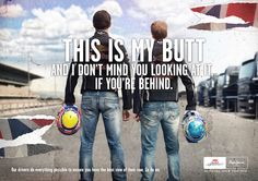 Mark and Seb. Love this F1 ad. haha #formulaOne Woman like F1 too