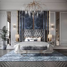 Modern Luxury Bedroom, Master Bedroom Interior, Luxury Bedroom Design, Master Bedroom Design, Luxury Interior Design, Luxurious Bedrooms, Bedroom Decor, Bedroom Classic, Villa